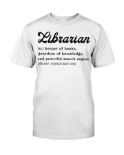 Librarian - Definition Classic T-Shirt front