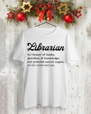 Librarian - Definition Classic T-Shirt lifestyle-holiday-crewneck-front-2