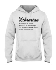 Librarian - Definition Hooded Sweatshirt thumbnail