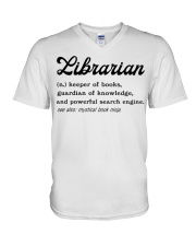 Librarian - Definition V-Neck T-Shirt thumbnail