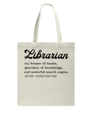 Librarian - Definition Tote Bag thumbnail