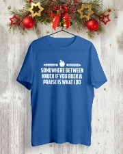 Teacher - Knuck If You Buck Classic T-Shirt lifestyle-holiday-crewneck-front-2