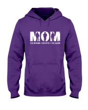 Mom - The Veteran - The Myth - The Legend Hooded Sweatshirt thumbnail