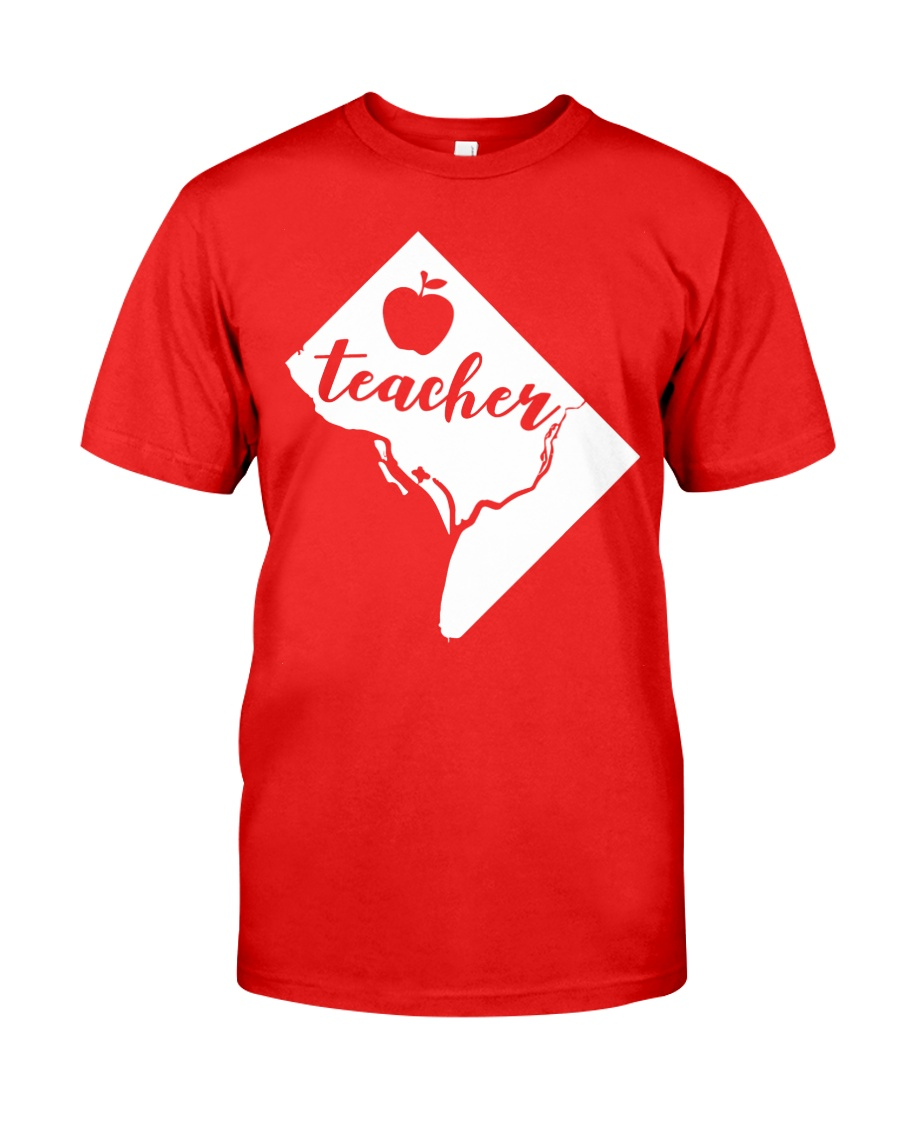 Washington DC Teacher Map Classic T-Shirt
