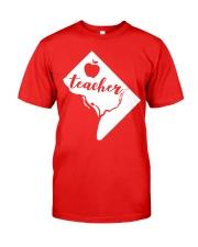 Washington DC Teacher Map Classic T-Shirt front