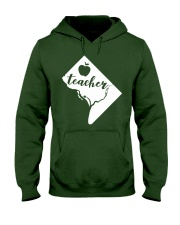 Washington DC Teacher Map Hooded Sweatshirt thumbnail