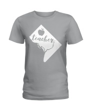 Washington DC Teacher Map Ladies T-Shirt thumbnail
