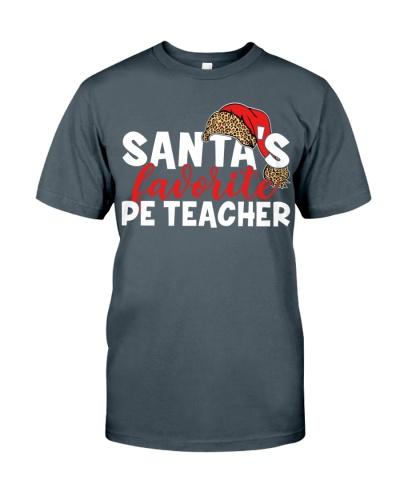 Pe Teacher - Santa's Favorite - Plaid