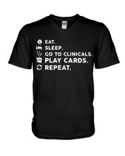 Nurse - Eat Sleep Go to Clinicals V-Neck T-Shirt thumbnail