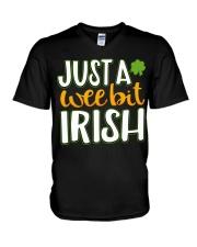 Just A Wee Bit Irish V-Neck T-Shirt thumbnail