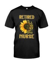 Retired Nurse Happier Classic T-Shirt front