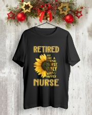 Retired Nurse Happier Classic T-Shirt lifestyle-holiday-crewneck-front-2