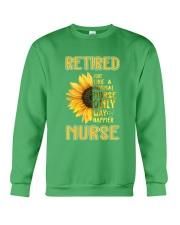 Retired Nurse Happier Crewneck Sweatshirt thumbnail