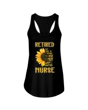 Retired Nurse Happier Ladies Flowy Tank thumbnail