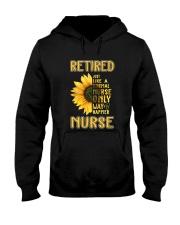 Retired Nurse Happier Hooded Sweatshirt thumbnail