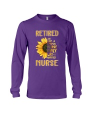 Retired Nurse Happier Long Sleeve Tee thumbnail