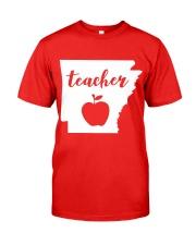 Arkansas Teacher - Map Classic T-Shirt front