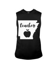 Arkansas Teacher - Map Sleeveless Tee thumbnail