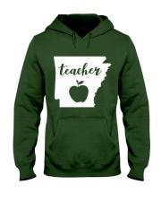 Arkansas Teacher - Map Hooded Sweatshirt thumbnail