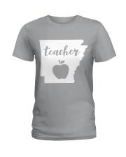 Arkansas Teacher - Map Ladies T-Shirt thumbnail