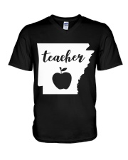 Arkansas Teacher - Map V-Neck T-Shirt thumbnail