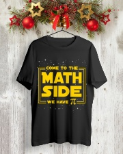 Teacher - Math Side Classic T-Shirt lifestyle-holiday-crewneck-front-2