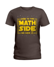 Teacher - Math Side Ladies T-Shirt thumbnail