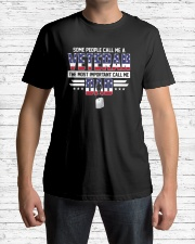 Veteran Dad - The most important call me Dad Classic T-Shirt lifestyle-mens-crewneck-front-1