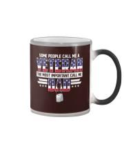 Veteran Dad - The most important call me Dad Color Changing Mug thumbnail
