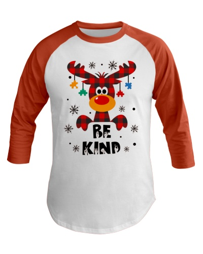 Autism - Be kind - Funny Christmas shirt Red Plaid