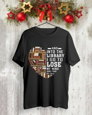 And into the Library I go to lose My Mind  Classic T-Shirt lifestyle-holiday-crewneck-front-2
