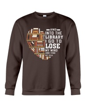 And into the Library I go to lose My Mind  Crewneck Sweatshirt thumbnail
