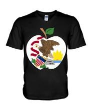 Illinois - National Teacher Day  V-Neck T-Shirt thumbnail
