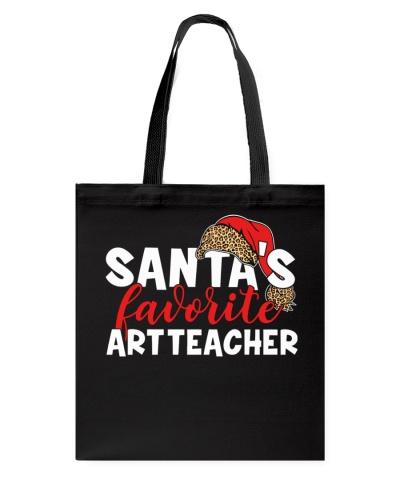 Art Teacher - Santa's Favorite - Leopard design