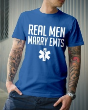 Real Men Marry EMTs Classic T-Shirt lifestyle-mens-crewneck-front-6