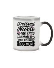 Retired Nurse - Stay at Home Dog Mom Color Changing Mug thumbnail