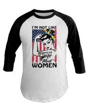 Special Ed Teacher - I'm not like most Women Baseball Tee thumbnail
