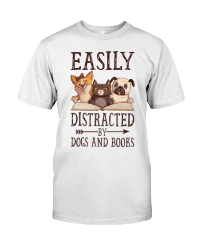 Librarian - distracted by dogs and books