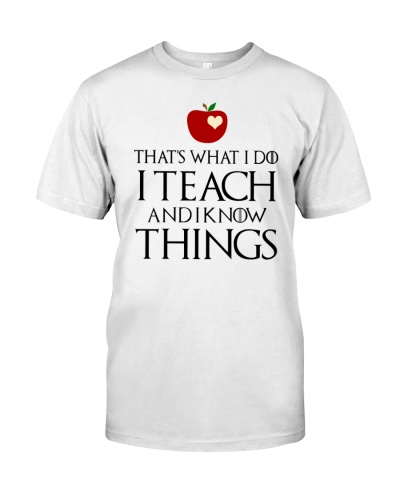 Teacher know things