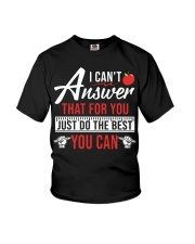Teacher - Testing Day You Can Youth T-Shirt front