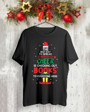 Librarian - The best way to spread Christmas Cheer Classic T-Shirt lifestyle-holiday-crewneck-front-2