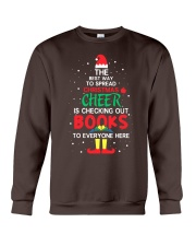Librarian - The best way to spread Christmas Cheer Crewneck Sweatshirt thumbnail