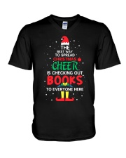 Librarian - The best way to spread Christmas Cheer V-Neck T-Shirt thumbnail