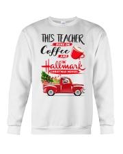 Teacher - Runs on Coffee Crewneck Sweatshirt thumbnail