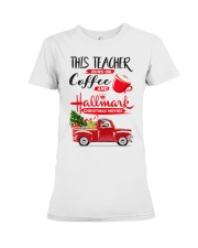 Teacher - Runs on Coffee Premium Fit Ladies Tee thumbnail