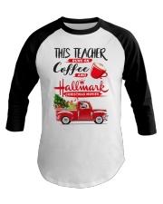 Teacher - Runs on Coffee Baseball Tee thumbnail