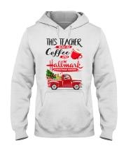 Teacher - Runs on Coffee Hooded Sweatshirt thumbnail