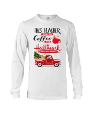 Teacher - Runs on Coffee Long Sleeve Tee thumbnail