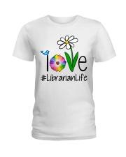 Love Librarian Life Ladies T-Shirt thumbnail