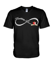 Teacher - Teaching Forever V-Neck T-Shirt thumbnail